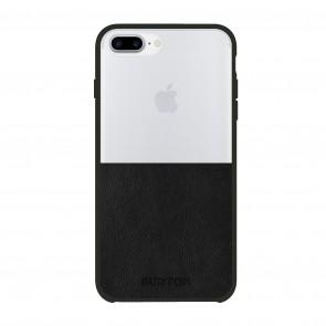 Burton Translucent Color-Block Case for iPhone 7 Plus & iPhone 6/6s Plus - Clear/Black Leather