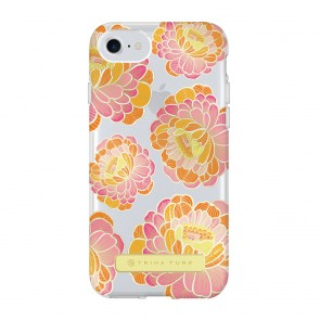 Trina Turk Translucent Case (1-PC) for iPhone 7 & iPhone 6/6s - Villa Floral Pink/Orange/Clear