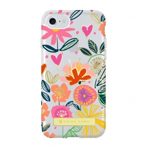 Trina Turk Translucent Case (1-PC) for iPhone 7 & iPhone 6/6s - La Habana Floral Multi/Gold/Clear