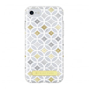 Trina Turk Translucent Case (1-PC) for iPhone 7 & iPhone 6/6s - Breeze Block Geo White/Gold/Silver/Clear