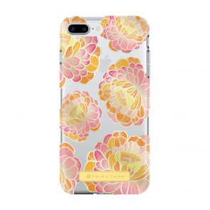 Trina Turk Translucent Case (1-PC) for iPhone 7 Plus & iPhone 6 Plus/6s Plus - Villa Floral Pink/Orange/Clear