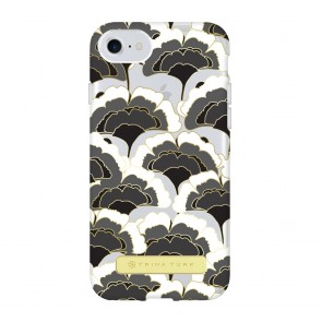 Trina Turk Translucent Case (1-PC) for iPhone 7 & iPhone 6/6s - Rainbow Petals Black/White/Gold/Clear