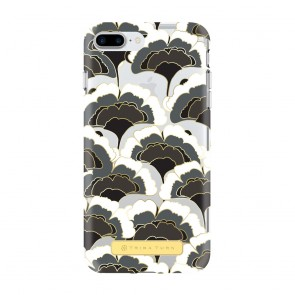 Trina Turk Translucent Case (1-PC) for iPhone 7 Plus & iPhone 6 Plus/6s Plus - Rainbow Petals Black/White/Gold/Clear