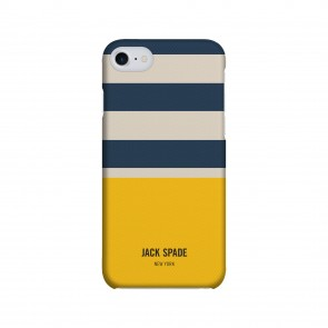 JACK SPADE 1-PC Snap Case for iPhone 7 - Stripes & Dipp Grey/Blue/Yellow
