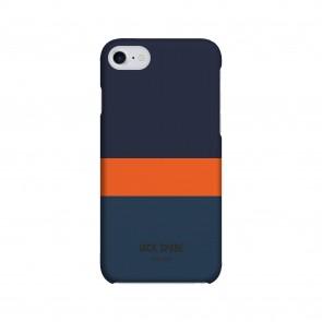 JACK SPADE 1-PC Snap Case for iPhone 7 - Horizontal Stripe Navy/Orange