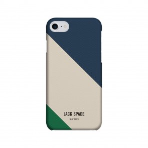 JACK SPADE 1-PC Snap Case for iPhone 7 - Rep Stripe Grey/Blue/Green