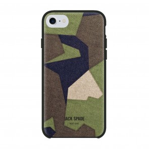 JACK SPADE Printed Camo Case for iPhone 7 & iPhone 6/6s - M90 Camo Green
