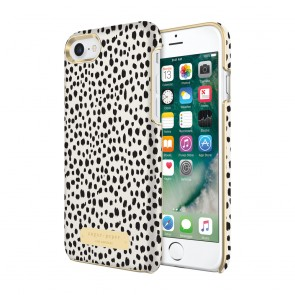 Sugar Paper Wrap Case for iPhone 7 - Mini Leopard Dot Black/Ivory Leather