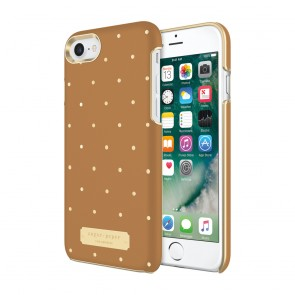 Sugar Paper Wrap Case for iPhone 8 & iPhone 7 - Brown Leather/Metallic Gold Dot