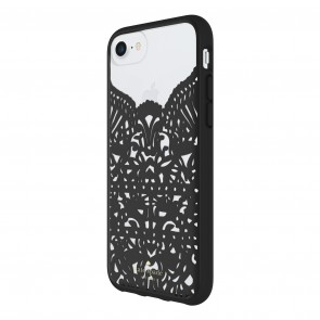 kate spade new york Lace Cage Case for iPhone 8, iPhone 7 & iPhone 6/6s - Lace Hummingbird Black/Clear