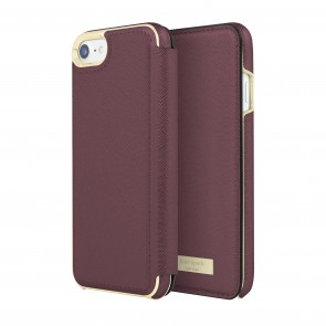 kate spade new york Folio Case for for iPhone 8, iPhone 7 - Mahogany