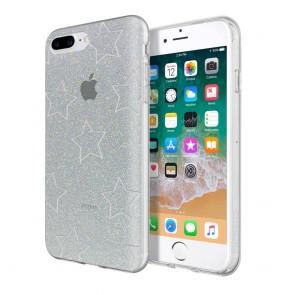 Incipio Design Series - Classic for iPhone 8 Plus, iPhone 7 Plus, & iPhone 6/6s Plus -Glitter Star Cut Out