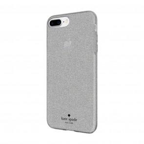 kate spade new york Flexible Glitter Case for iPhone 8 Plus, iPhone 7 Plus & iPhone 6 Plus/6s Plus - Silver Glitter