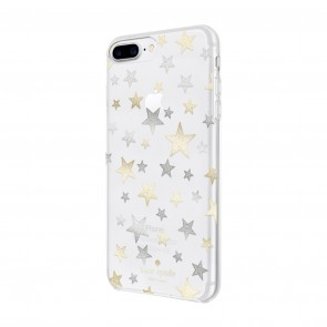 kate spade new york Protective Hardshell Case for iPhone 8 Plus, iPhone 7 Plus & iPhone 6 Plus/6s Plus - Stars Clear/Gold/Silver