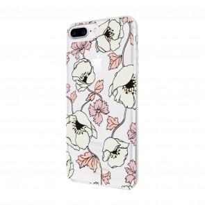 kate spade new york Protective Hardshell Case for iPhone 8 Plus, iPhone 7 Plus & iPhone 6 Plus/6s Plus - Dreamy Floral Cream/Rose Dew/Tech Pink Sand/Black/Gold Foil