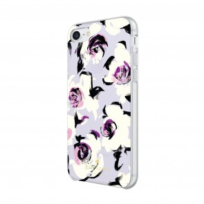 kate spade new york Protective Hardshell Case for iPhone 8, iPhone 7 & iPhone 6/6s - Romantic Floral Translucent Purple