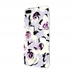 kate spade new york Protective Hardshell Case for iPhone 8 Plus, iPhone 7 Plus & iPhone 6 Plus/6s Plus - Romantic Floral Translucent Purple