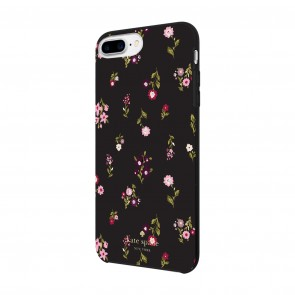 kate spade new york Protective Hardshell Case for iPhone 8 Plus, iPhone 7 Plus & iPhone 6 Plus/6s Plus - Spriggy Floral Multi/Black/Gems