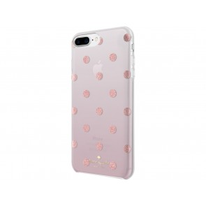 kate spade new york Protective Hardshell Case for iPhone 8 Plus, iPhone 7 Plus & iPhone 6 Plus/6s Plus - Glitter Dot Foxglove Ombre/Rose Gold Foil/Rose Gold Glitter