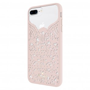 kate spade new york Lace Cage Case for iPhone 8 Plus, iPhone 7 Plus & iPhone 6 Plus/6s Plus - Lace Hummingbird Blush/Clear