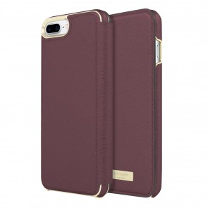kate spade new york Folio Case for iPhone 8 Plus & iPhone 7 Plus - Mahogany