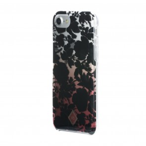 Vera Bradley Flexible Frame Case for iPhone 8, iPhone 7 & iPhone 6/6s - Silhouette Floral Black/Red Translucent Ombre