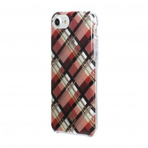 Vera Bradley Flexible Frame Case for iPhone 8, iPhone 7 & iPhone 6/6s - Rumba Grid Red/Black/Tan/Gold