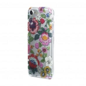 Vera Bradley Flexible Frame Case for iPhone 8, iPhone 7 & iPhone 6/6s - Coral Floral Multi/Multi Glitter/Cream/Clear