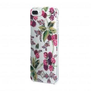 Vera Bradley Flexible Frame Case for iPhone 8 Plus, iPhone 7 Plus & iPhone 6 Plus/6s Plus- Winter Berry/Pink Multi/Clear