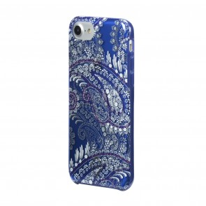 Vera Bradley Flexible Frame Case for iPhone 8, iPhone 7 & iPhone 6/6s - Paisley Petals Purple/White/Navy Translucent