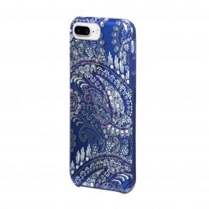 Vera Bradley Flexible Frame Case for iPhone 8 Plus, iPhone 7 Plus & iPhone 6 Plus/6s Plus- Paisley Petals Purple/White/Navy Translucent