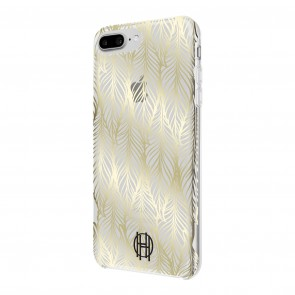 House of Harlow 1960 Printed Case for iPhone 8 Plus, iPhone 7 Plus & iPhone 6 Plus/6s Plus - Leaf Print Gold Foil/Clear
