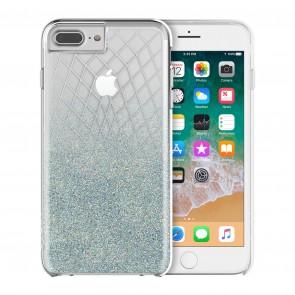 Incipio Design Series - LUX for iPhone 8 Plus, iPhone 7 Plus, & iPhone 6/6s Plus -Silver Bleu Sparkler