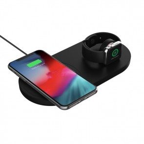Griffin PowerBlock Wireless Fast Charging Pad with Apple Watch Dock - Black (North America)