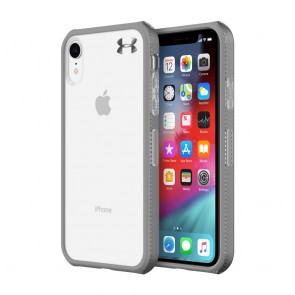 Under Armour UA Protect Verge Case for iPhone XR - Clear/Graphite/Gunmetal