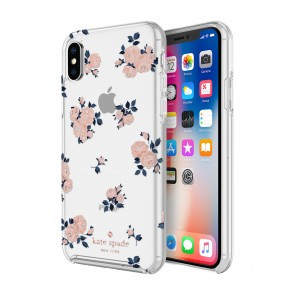 kate spade new york Protective Hardshell Case (1-PC Comold) for iPhone X/Xs - Happy Rose Pink/Navy/Crystal Gems/Rose Gold/Gold/Clear