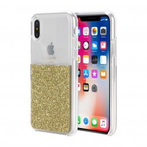 kate spade new york Half Clear Crystal Case for iPhone X/Xs - Gold