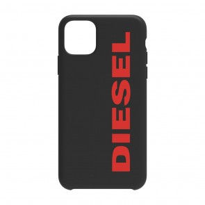 Diesel Printed Co-Mold Case for iPhone 11 Pro Max - Soft Touch Black/Red Vertical Logo