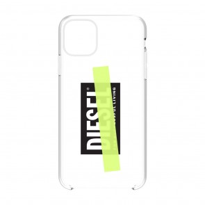 Diesel Printed Co-Mold Case for iPhone 11 Pro Max - Clear/Black/Yellow Tape