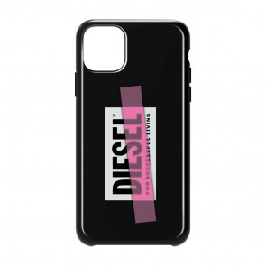 Diesel Printed Co-Mold Case for iPhone 11 Pro Max - Black/Pink Tape
