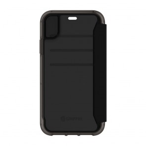 Griffin Survivor Clear Wallet for iPhone XR - Black/Clear