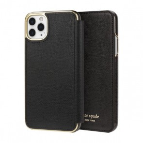 kate spade new york Folio Case for iPhone 11 Pro Max - Black PU/Gold Logo