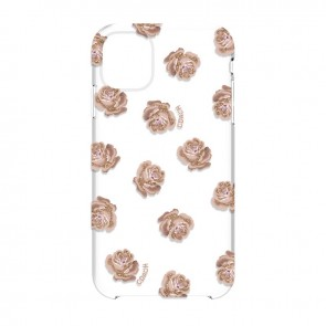 Coach Protective Case for iPhone 11 - Dreamy Peony Clear/Pink/Glitter