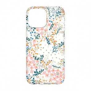 Kate Spade New York Protective Hardshell Case for iPhone 13 - Multi Floral/Rose/Pacific Green/Clear/Cream with Stones