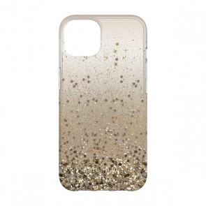 Kate Spade New York Protective Hardshell Case for iPhone 13 Pro - Chunky Glitter Champagne/Gold Glitter/Gems/Champagne