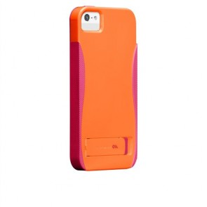 iPhone 5/5s Pop! Cases with Stand Tangerine Orange/Lipstick Pink
