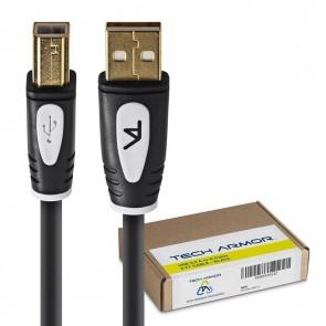 Tech Armor USB A Male to USB B Male, 6 ft