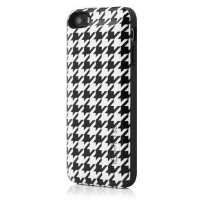 Incipio Offgrid Case for iPhone 5/5s - Retail Packaging - Houndstooth Black/White