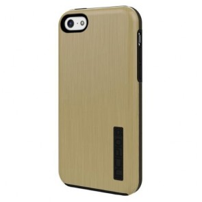 Incipio DualPro Shine Case for iPhone 5C - Retail Packaging - Gold/Gray