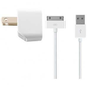 Kanex 1-Amp USB Wall Charger +3ft Charge/Sync 30-Pin Connector - White